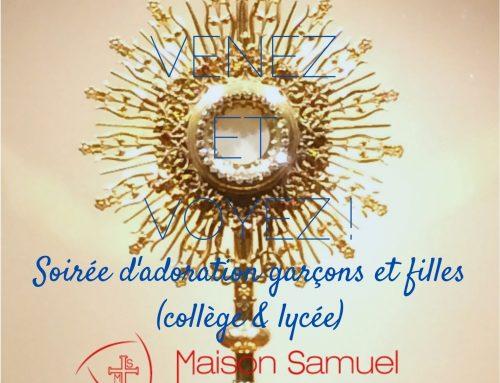 Soirée d'adoration ouvertes aux jeunes jeudi 14 octobre